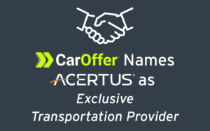 Car Offer Names ACERTUS Exclusive Transport Provider