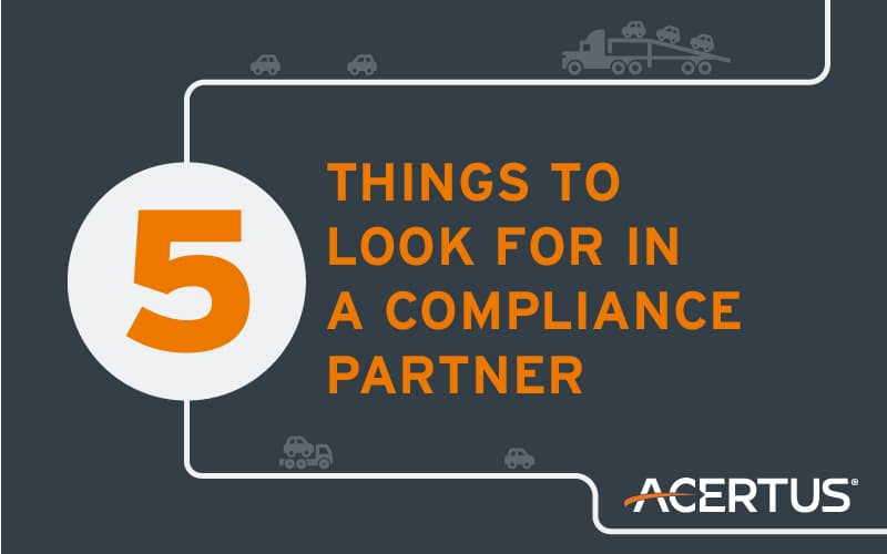 5 Things To Look For In A Compliance Partner